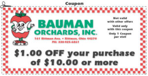 One dollar off your purchase coupon